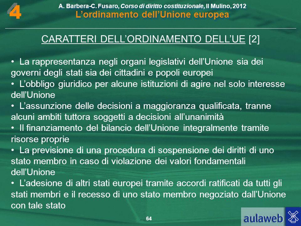 CARATTERI DELL'ORDINAMENTO DELL'UE [2]